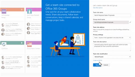 Create Connected Sharepoint Online Team Sites Seconds