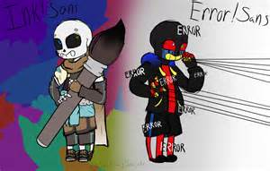 Undertale Sans Ink Error X