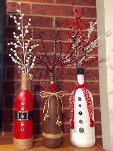 Christmas, Wine, Bottle, Vases, By, Lalacreations4, On, Etsy