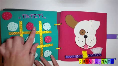 Chuchú Mamá  Libro Didáctico Sensorial Quiet Book