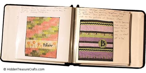 Quilt Journal Template by Make A Quilt Journal Treasure Crafts And Quilting