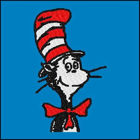 dr seuss embroidery designs dr seuss cat in the hat embroidery design