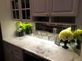 Mirror Tile Backsplash Kitchen Antique Mirror Backsplash New Inspiration To Create An Antique Accent In A Modern Kitchen