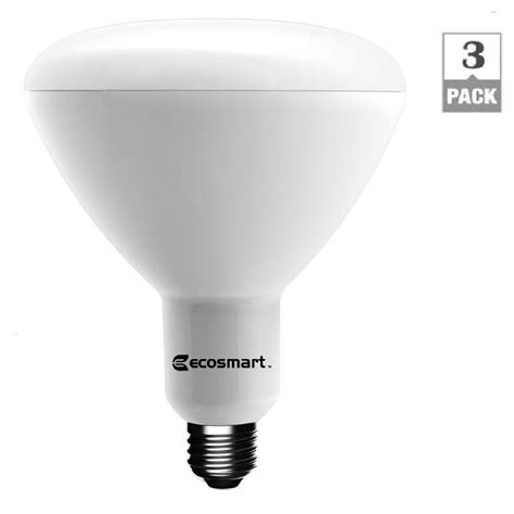 ecosmart 75w equivalent daylight br40 dimmable led light bulb 3 pack 1003015103 the home depot