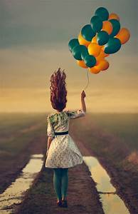 Girl, With, Balloon, Wallpapers, High, Quality