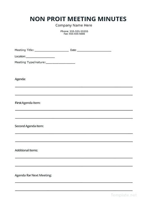 meeting minutes template  smart