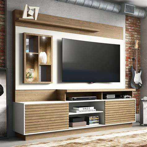 estante home  tv  polegadas eldorado avela  white