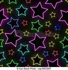 EPS Vector of Seamless neon stars background csp Search Clip Art Illustration Drawings and Clipart Vector Graphics