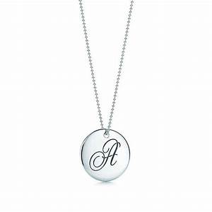 tiffany notesr letter quotdquot round pendant letter k With tiffany and co letter pendant