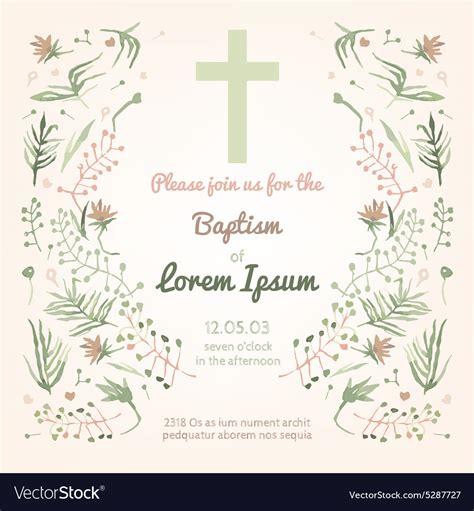 Baptism invitation card Royalty Free Vector Image
