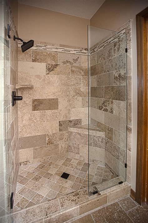 bathroom remodel travertine tile shower excellence