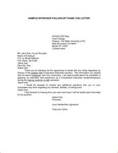 Thank You Letter After Interview Follow-Up