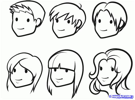 drawing cartoon people   draw faces  kids step
