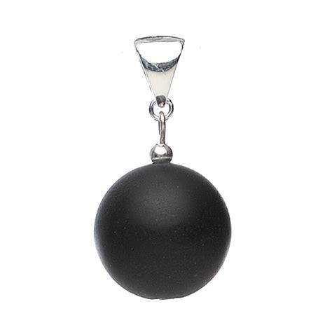 Anhanger Len Anhänger Aus Mattem Onyx 925 Silber Schwarz Kugel