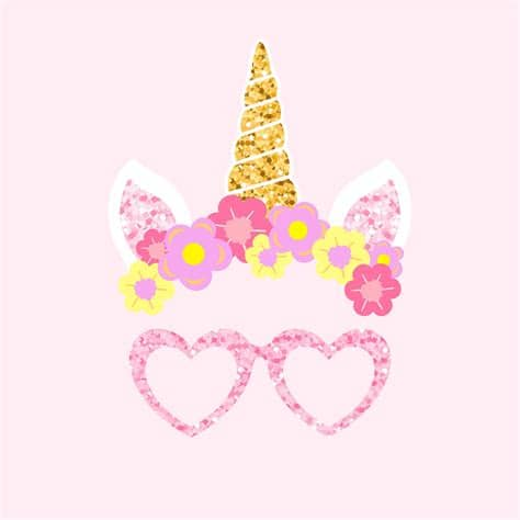Download 8,777 unicorn free vectors. Cute unicorn photo booth party props vector   Free vector ...