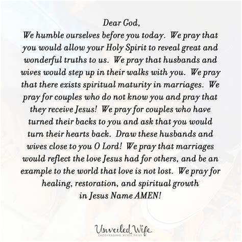 prayer   day spiritual maturity  marriage