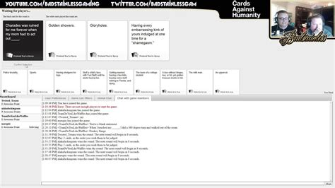 Free to play mmorpg for pc, play now for free on your desktop. Cards Against Humanity - Multiplayer Online - Episode 1 - With Friends! - YouTube