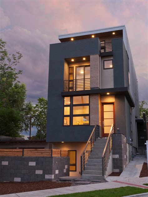 modern townhouse home design ideas pictures remodel  decor