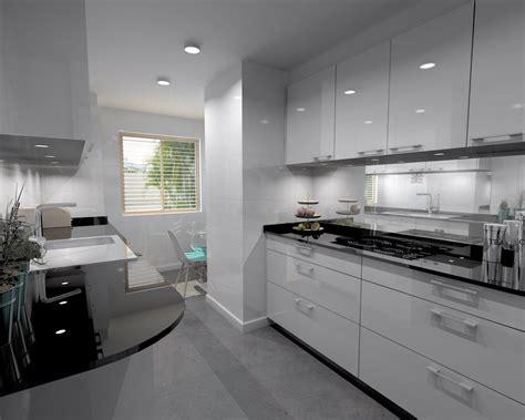 cocina santos modelo plano laminado blanco brillo