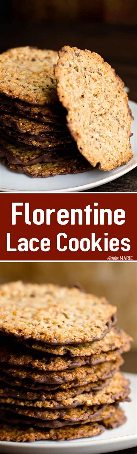 italian florentine almond lace cookie recipe ashlee