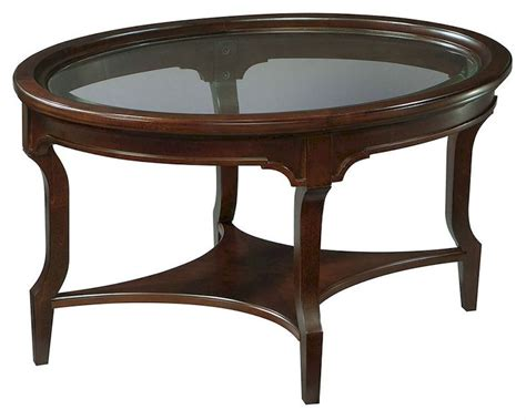 oval glass coffee table hekman oval glass coffee table new traditions he 951202nt