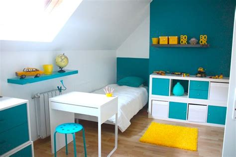 deco chambre d enfant d 233 coration chambre enfant bleu et jaune