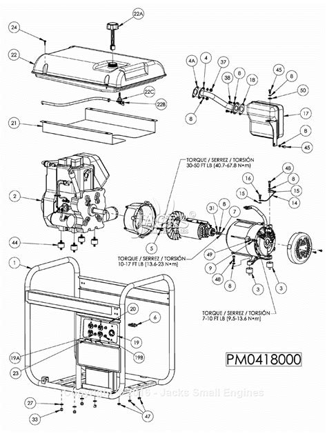powermate formerly coleman pm0418000 parts diagram for