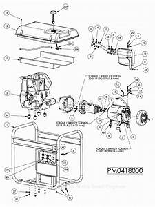 Powermate Formerly Coleman Pm0418000 Parts Diagram For Generator Parts