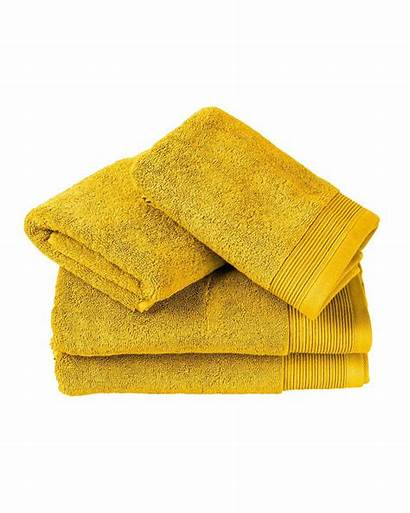 Bath Luxury Cotton Egyptian Yellow Towels Bright