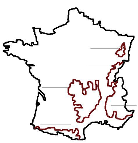 Carte Des Reliefs De à Compléter carte de avec les r 233 gions 224 compl 233 ter