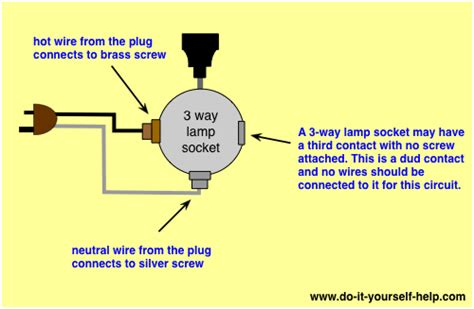 Two Bulb Table Lamp by Lamp Switch Wiring Diagrams Do It Yourself Help Com