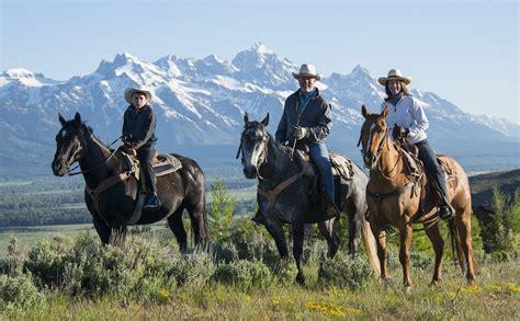 horseback riding hole jackson wyoming ranch spring western creek saddles summer springcreekranch chuckwagon bbq