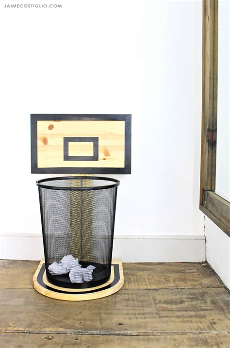 ana white basketball hoop trash  diy projects