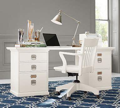 pb desk bedford rectangular desk pottery barn