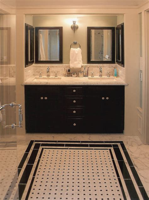 elegant black white colored bathroom design ideas