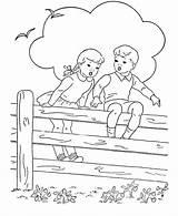 Coloring Fence Cerca Sitting Sheets Children Desenho Colorir Bluebonkers Sentadas Printable Casa Adult Criancas Tudodesenhos Colorier Activity Cercado Jardim sketch template