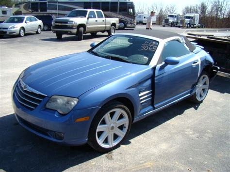 2005 Chrysler Crossfire Parts by Rv Parts 2005 Chrysler Crossfire Roadster Salvage Used