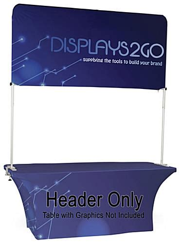 trade show table header double sided custom printing