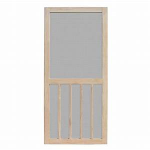 Unique home designs 30 in x 80 in aspen unfinished pine for Unique home designs screen door