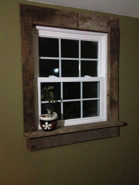 pallet window casings project  living room window
