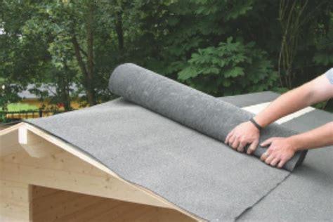 dachpappe richtig verlegen flachdach gartenhaus abdichten tipps und anleitung