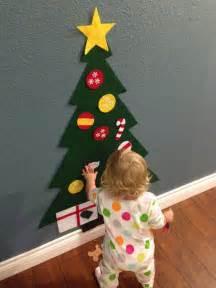 felt christmas tree holiday gift  toddlers kids felt