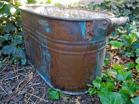 large copper tub antique large copper boiling tub large copper tub copper pot