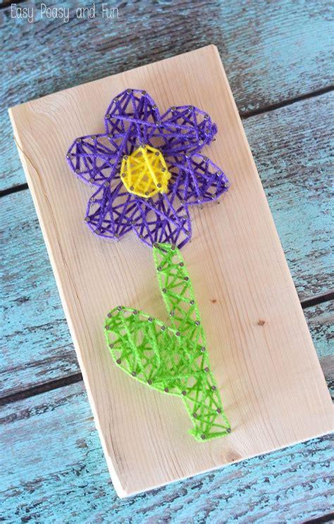 flower string art string art  kids school holiday