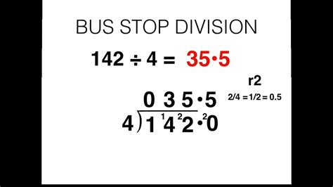 bus stop division and converting remainders to decimal values youtube