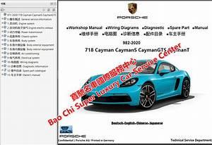 Porsche 718 Boxster 718 Cayman 982 Workshop Manual Wiring
