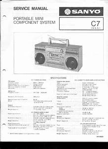 Sanyo C7 Portable Audio System Service Manual Download