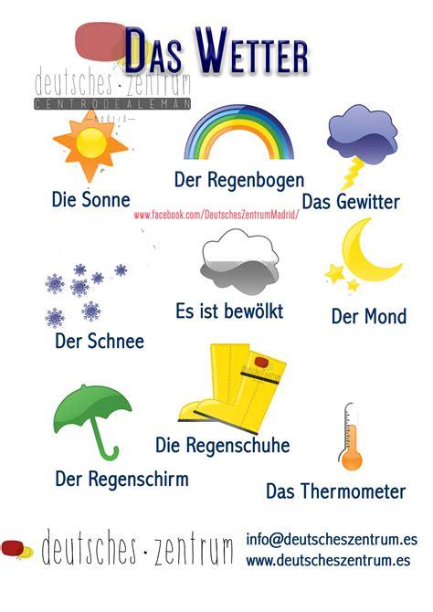 Wetter Deutsch Wortschatz Grammatik Alemán German Daf