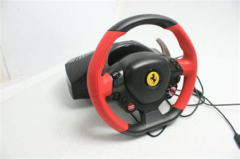 If it had force feed back and the wheel was a little bigger it would get a 5 star rating. Thrustmaster Ferrari 458 Spider Racing Wheel w Pedal Assembly for Xbox One 663296419538 | eBay