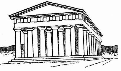 Greek Ancient Clipart Temple Greece Clip Building